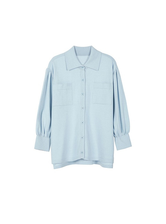 Loosefit Shirt Knit in S/Blue