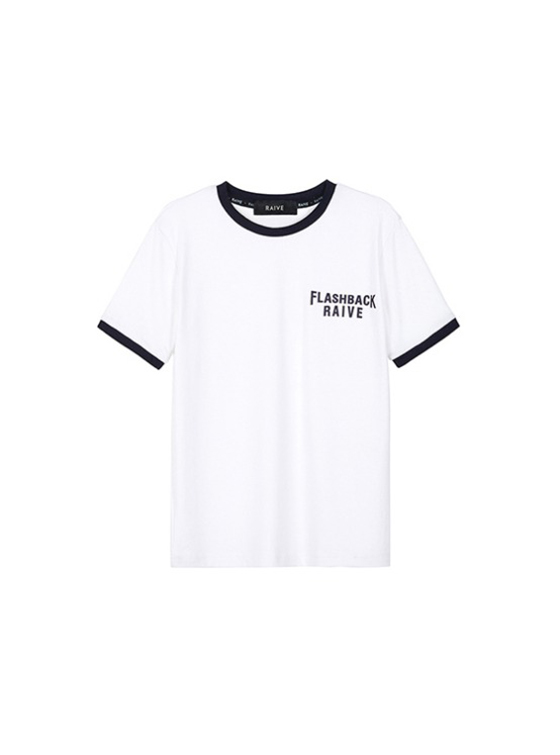Flashback Ringer Tee in O/White(Navy) VW9SE0230
