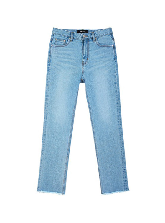 Straight High Waist Jeans in Blue VJ9SL0090