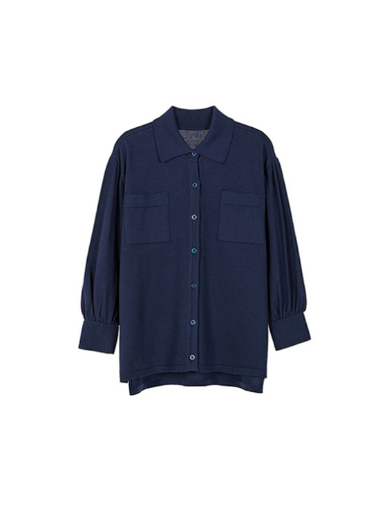 Loosefit Shirt Knit in Navy VK9SB0150