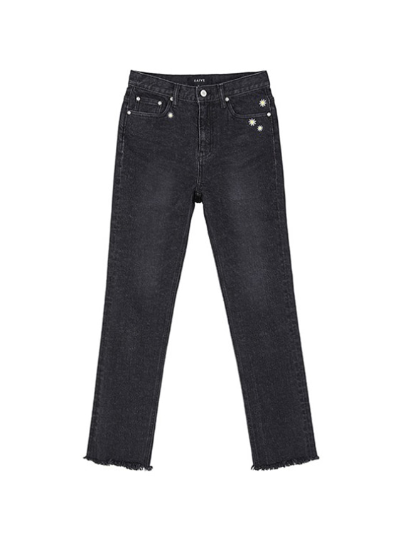 Daisy High Waist Jeans in Black VJ9SL0080