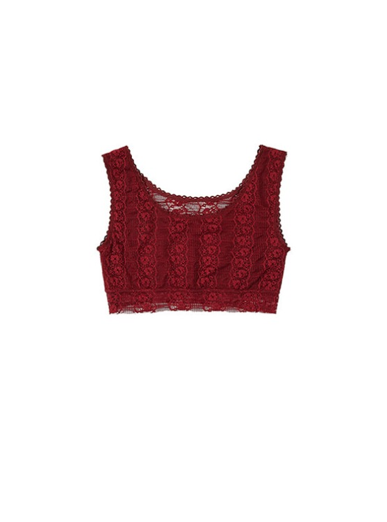 Lace Tank Bra in Wine VW8SX0910