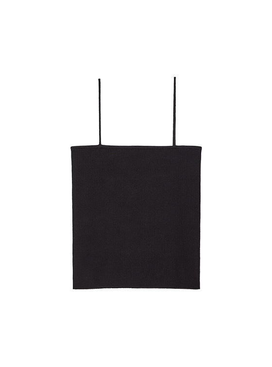 Ribbed Knit Camisole in Black VK9MP0930