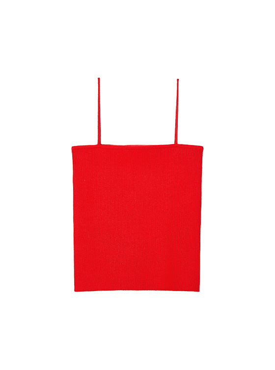 Ribbed Knit Camisole in Red VK9MP0930