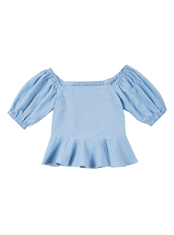 Square Puff Sleeve BL in S/Blue VW9MB0330