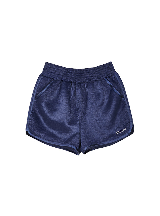 Satin Boxer Pants in Navy VW9ML0910