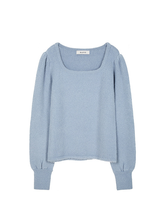 Square Neck Soft Knit in Blue VK9WP0780