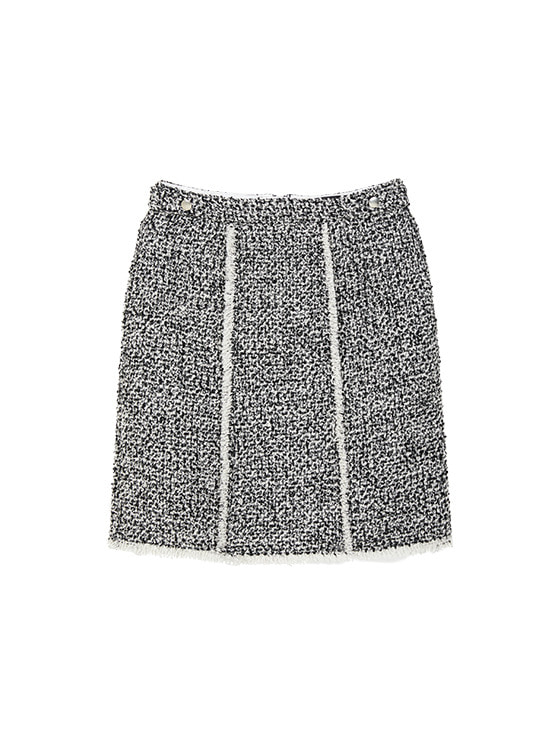 Tweed Mini Skirt in Black VW9WS0440