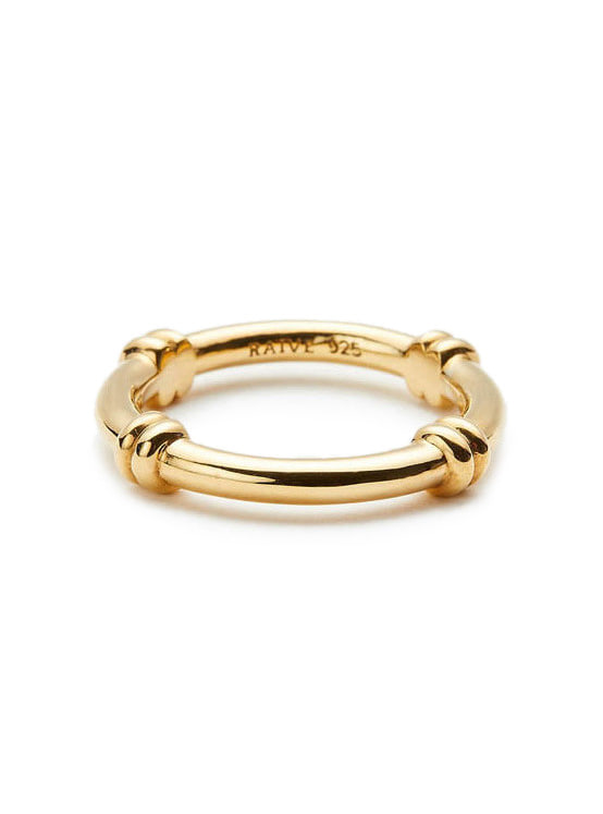 Crossed Chain Ring in Gold VX0SX0490