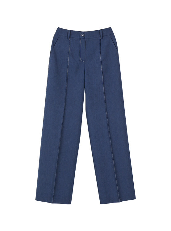 Pintuck Stitched Pants in D/Navy_VW0SL1040