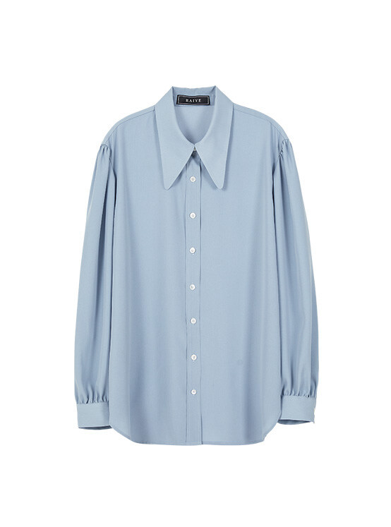 Big Collar Shirt in Blue_VW0SB1140