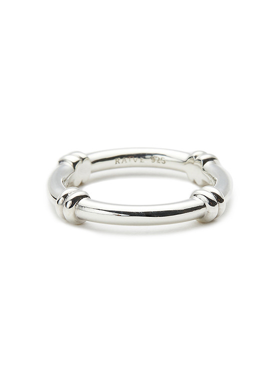 Crossed Chain Ring in Silver VX0SX0480