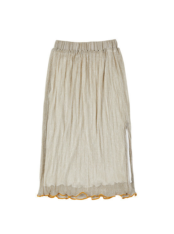 Pleated Sparkling Skirt in Sparkling Gold_VW0SS0880