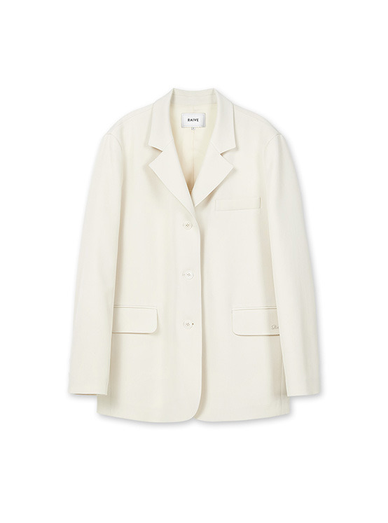 Light Single Jacket in Ivory_VW0SJ1080