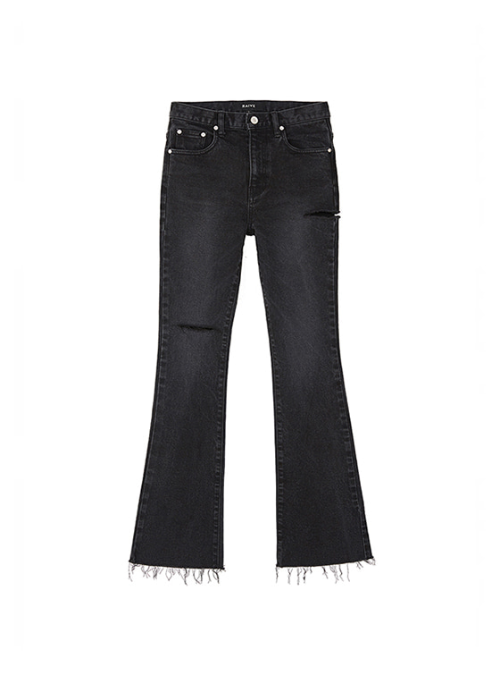 Ripped Bootcut Jeans in Black VJ8AL0850