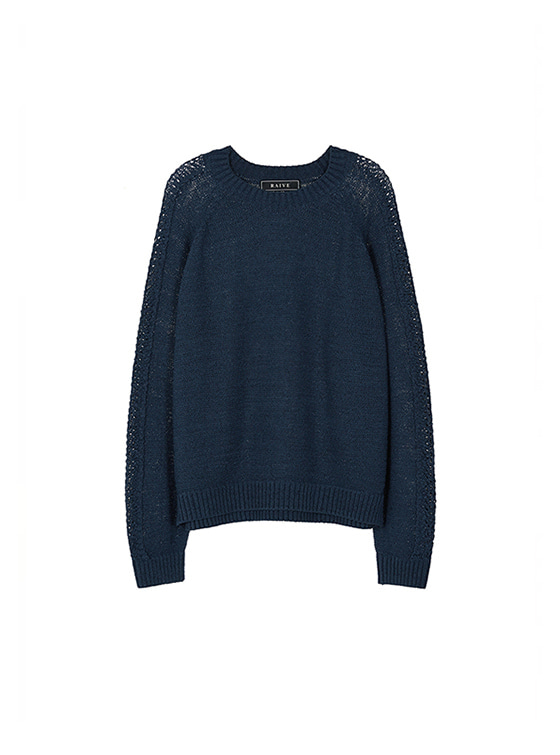 Scasi Knit Pullover in Navy