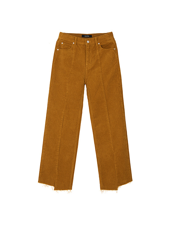Corduroy Loose Fit Pants in Brown