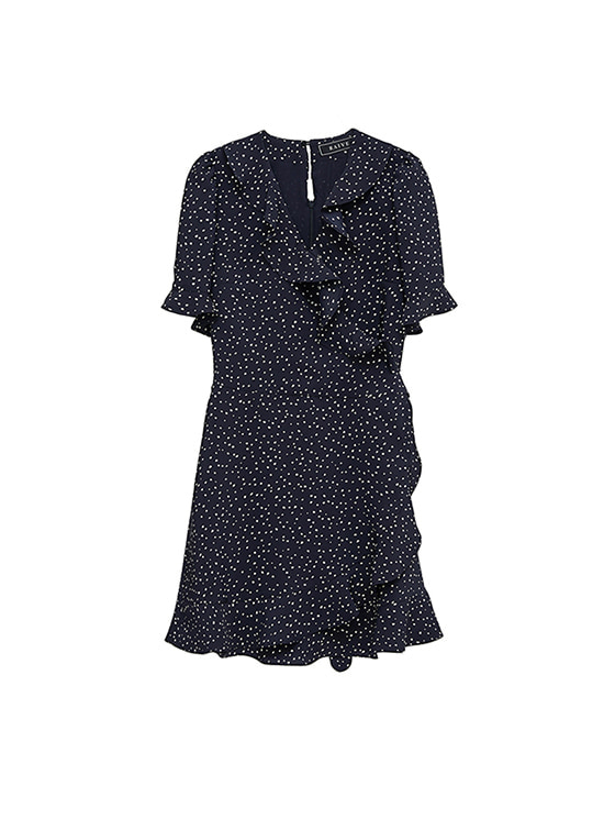 Color Random Dot dress in Navy VW8MO0280