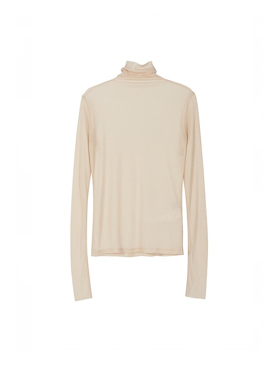See-through Turtleneck in Beige VW8AE0630