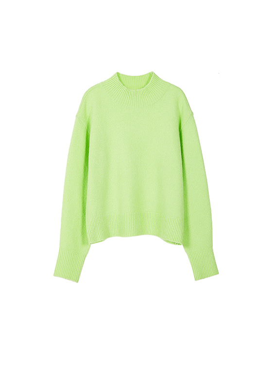 Oversized High Neck Knit in L/Green VK8WP0510