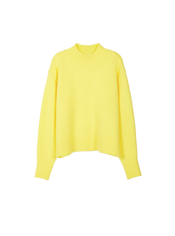 Oversized High Neck Knit in Yellow VK8WP0510