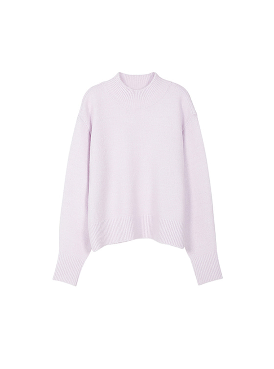 Oversized High Neck Knit in L/Purple VK8WP0510