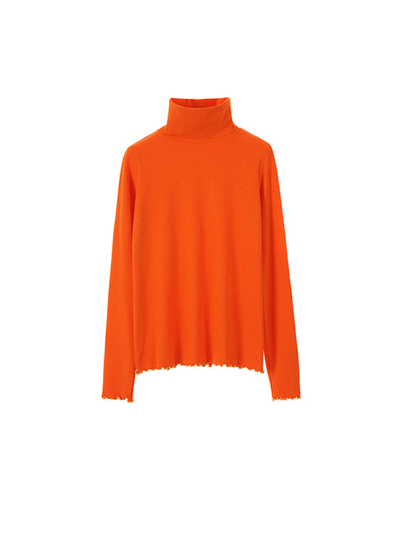 Simple Turtle Neck in Orange VW7AE0530