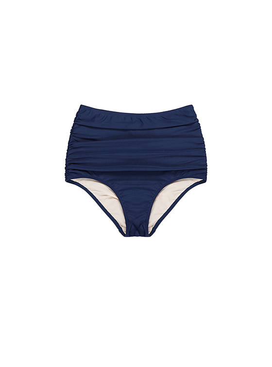 High-Waist Bikini Bottom in Navy VW8MX0960