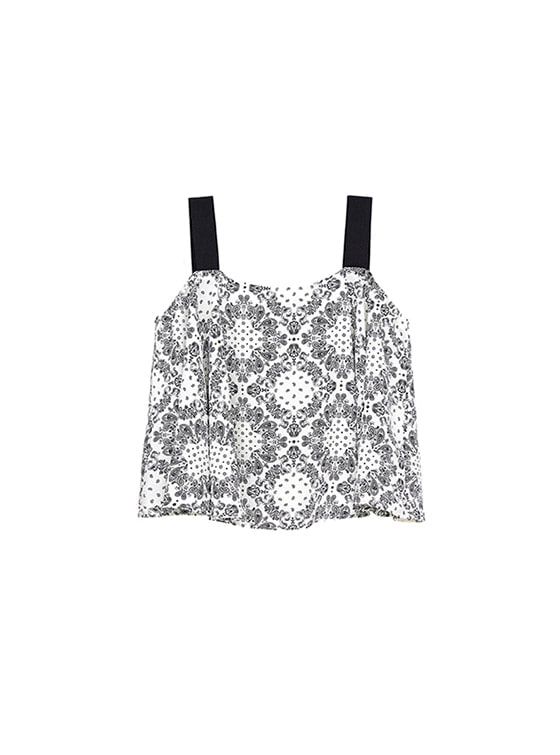 Paisley Flare Sleeveless in White