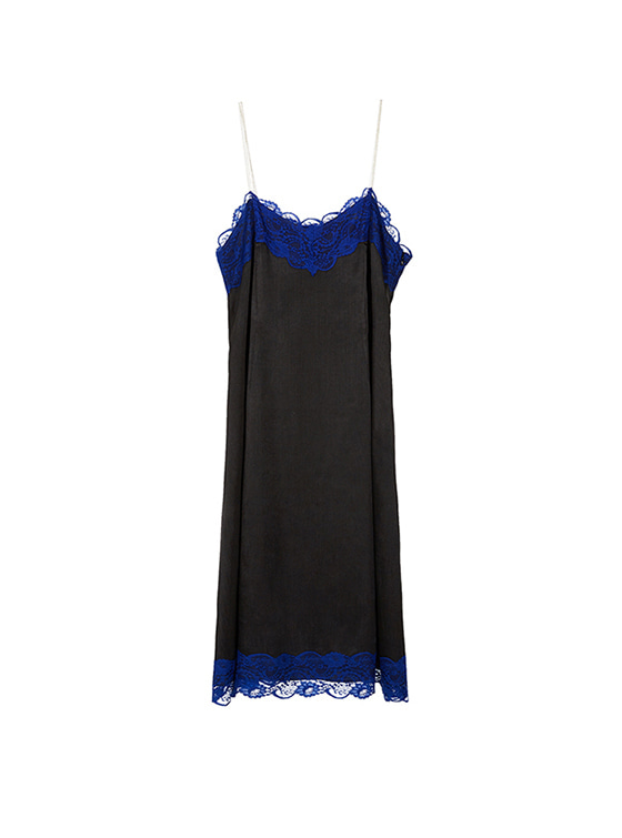 Lace Cami One Piece in Black VW8SO0440