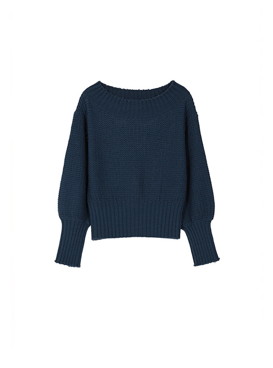 Off The Shoulder Knit in Navy