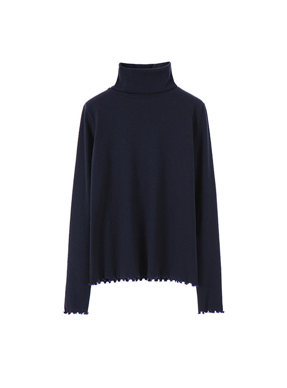 Simple Turtle Neck in Navy VW7AE0530
