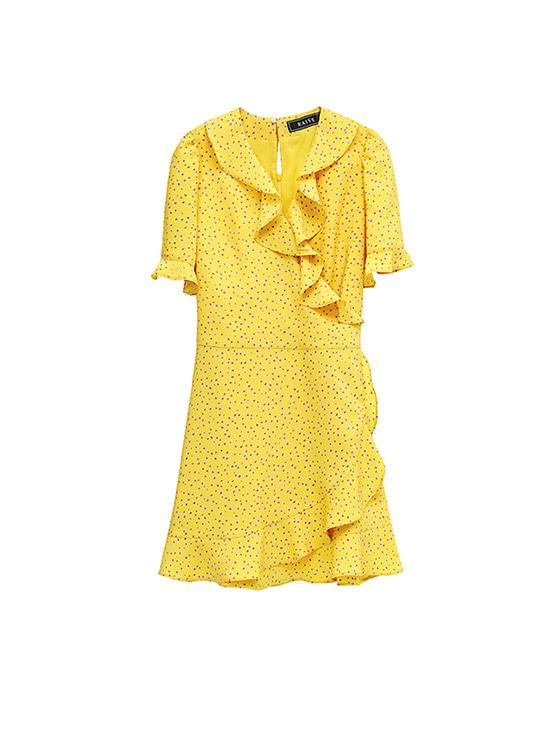 Color Random Dot dress in Yellow VW8MO0280
