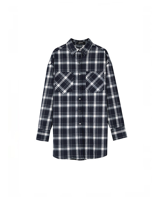 Oversized Check Shirt in Na+Ch VW8AB0510