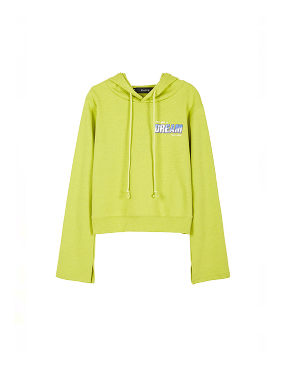 Cropped Hoodie in L/Green VW8AE0620