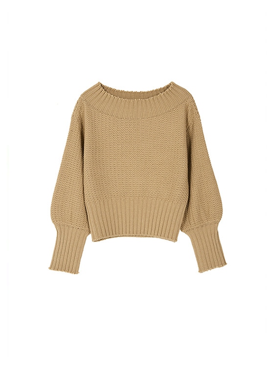 Off The Shoulder Knit in Beige