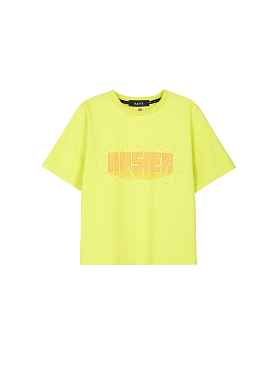 Vintage Washing Print Tee in Yellow VW8SE0580