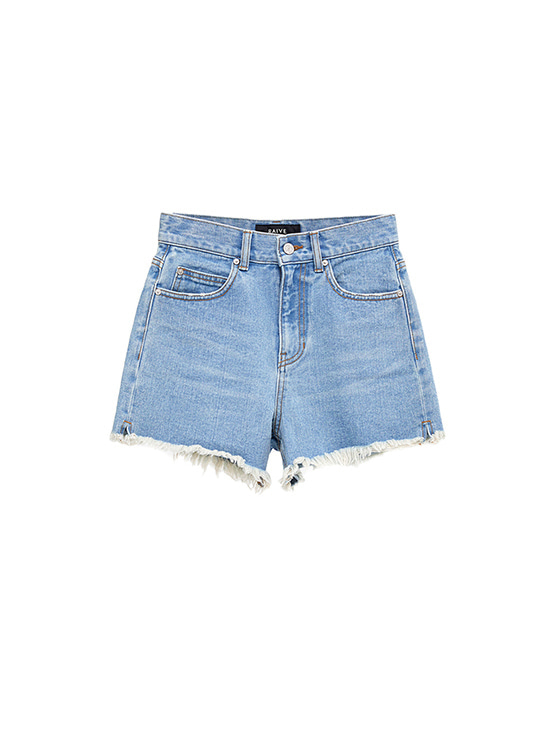 High Waist Denim Shorts in Blue VJ8ML0790