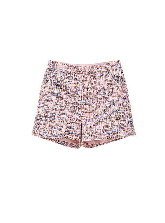 Tweed Short Pants in Pink VW8SL0760
